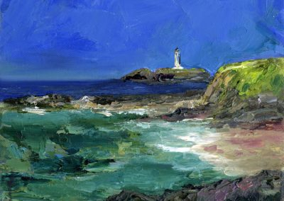 Godrevy lighthouse print Beth Robinson
