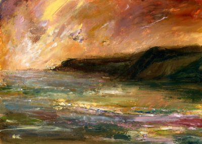 July evening, Pembrokeshire print Beth Robinson