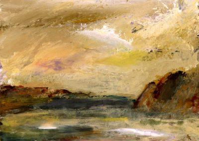 winter light pwll lleuog print Beth Robinson