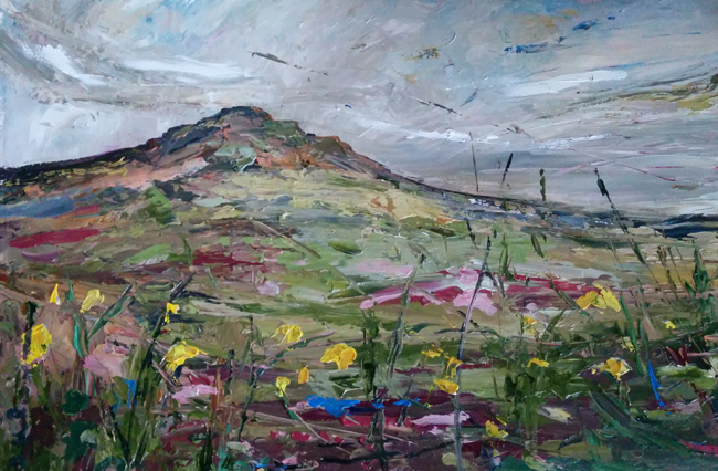 Beth Robinson Carn Ingli (daffodils) £1350 This painting is now to be auctioned in order to raise funds for Pembrokeshire Cystic Fibrosis. For further details, please contact me