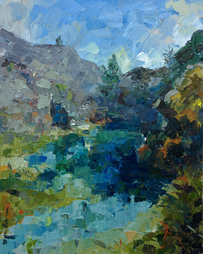 Beth Robinson Pool, Rosebush quarry £495 on display at Oriel y Parc