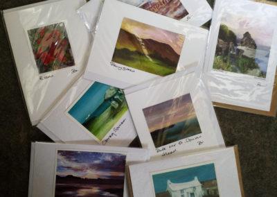 set of 5 handmade A6 cards offer