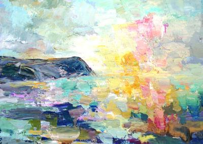 Sunset, Dinas Head card