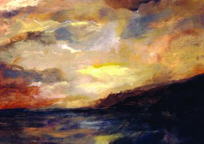 pwll gwaelod sunset card