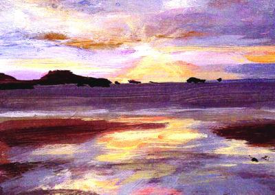 whitesands sunset card